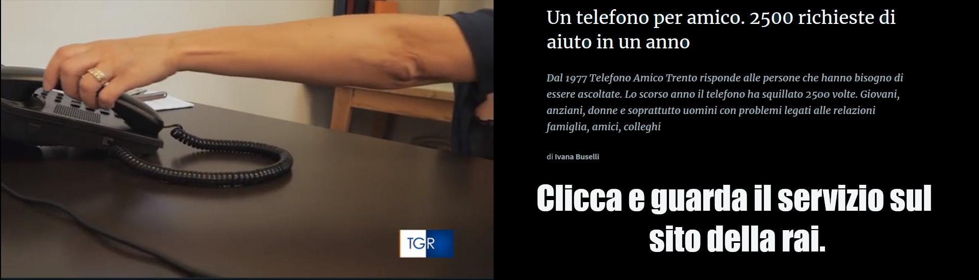 Telefono amico Trento servizio Rai 3